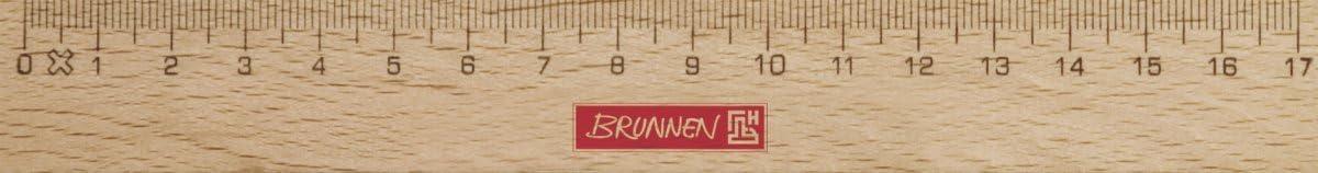 Regla de madera Brunnen VE20 17 cm
