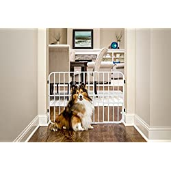Carlson Pet Products Tuffy Metal Expandable Pet Gate, Includes Small Pet Door