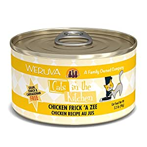 Weruva Cats In The Kitchen, Chicken Frick 'A Zee With Chicken Au Jus Cat Food, 3.2Oz Can (Pack Of 24)