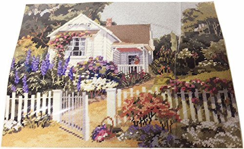 Kit Cottage Garden 4640 By Erin Dertner 1990 (Cottage Needlepoint)