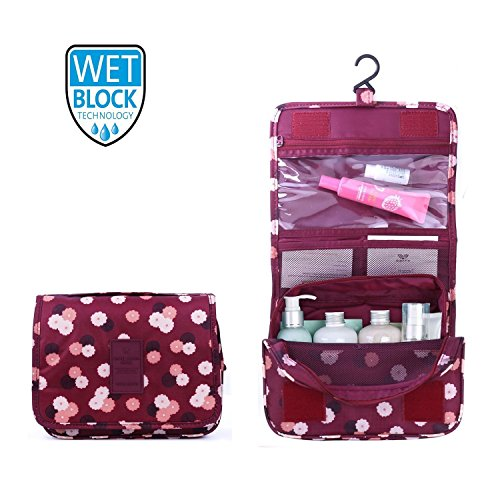 New Hanging Toiletry Bag Bathroom Organizer Travel Nylon Portable Cosmetic...
