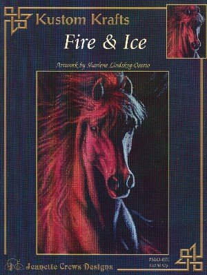 Kustom Krafts: Fire & Ice (Jeanette Crews Designs Cross Stitch Horse Pattern #SLO001)