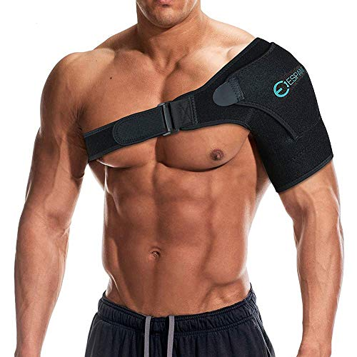 Iespandi Shoulder Sling Brace with Pressure Pad for Men & Women helps Shoulders Pain relief Stability Compression Sleeve For Rotator Cuff Support, Arm injury Prevention and Dislocated AC Joint 17' Adult Chest Protector