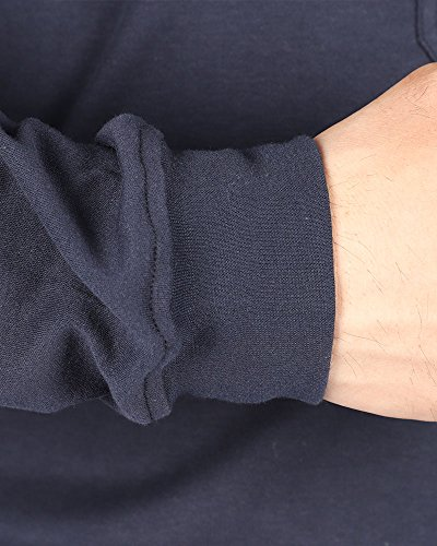 Cotton Flame Resistant Knit Safety Henley Work T-Shirt by Frecotex (Image #4)