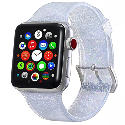 (Libra Gemini Compatible with Apple Watch Band 38mm for Apple Watch Replacement Bling Silicone Apple Watch Band 40mm for Women)