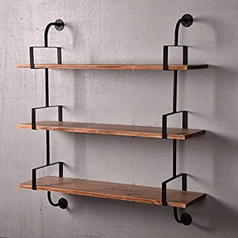 Reclaimed Wood & Industrial DIY Pipes Shelves For Home(36\'\')