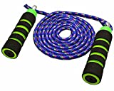 Cheap Anna's Rainbow Double Dutch Jump Rope – 14ft Long Skipping Rope for Indoor/Outdoor/Playground – Durable Adjustable 8mm Nylon Cord – Exercise Toy with Lightweight Foam Handles