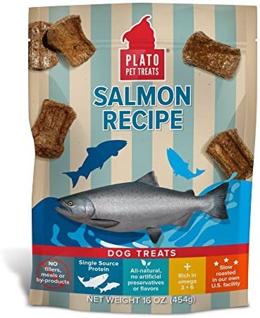 Plato Dog Treats — Natural Salmon — Pet Treats, All-Natural, Non-Gmo, No Artificial Flavors, Or Preservatives, Made In The Usa