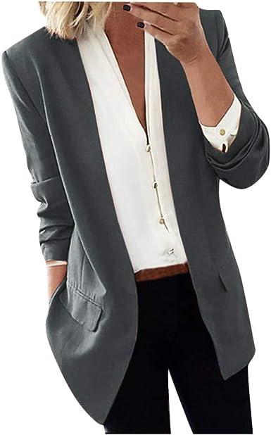 Women Sequin Lapel Long Sleeve Jacket Ladies Casual Office Work Blazer Suit Coat