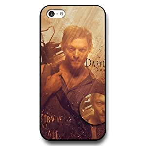 MMZ DIY PHONE CASEUniqueBox - Customized Black Hard Plastic iphone 6 4.7 inch Case, The Walking Dead Daryl Dixon iphone 6 4.7 inch case
