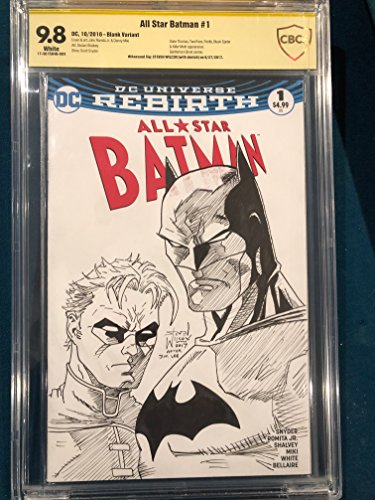 STEVEN WILCOX ORIGINAL Sketch Art CBCS 9.8 Signed BATMAN JIM LEE TRIBUTE NOT CGC