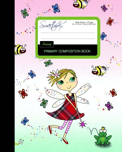 Primary Composition Book - Fairy: Kids School Exercise Book with Butterflies, Bees & Frog [ Times Tables * Wide Ruled * Large Notebook * Color * ... (Primary Composition Books - Kids