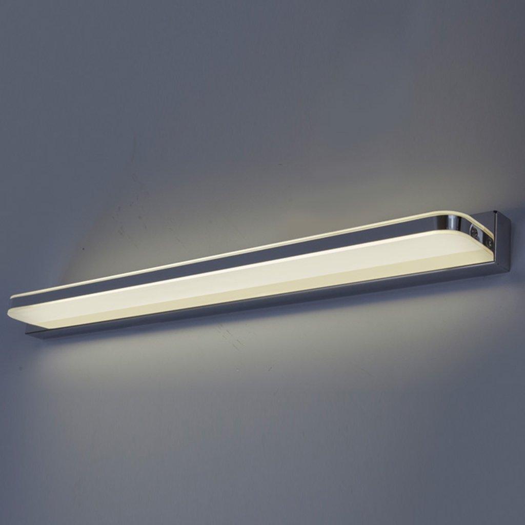 &Spiegelleuchte LED-Spiegel-Lichter, Make-up-Badezimmer-Kabinett beleuchtet Spiegel-Beleuchtung (Farbe   Warmes Licht-80CM)