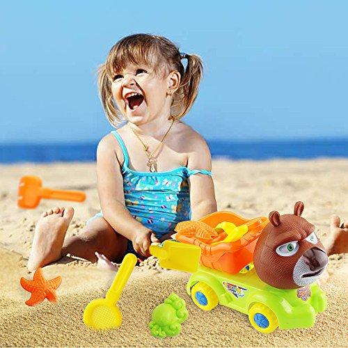 Sealive Popular 5PCS Beach Sand Toys Child Funny Play Home Bath Seaside Wheel Bucket Shovel Tools Set Water Toys Swim Pool Accessories