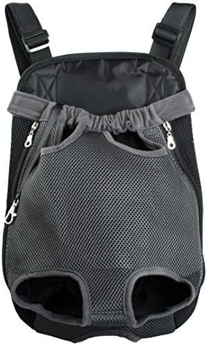 Wisspet Mesh Comfortable Pet Dog Legs Out Front Backpack Pet Carrier Bag