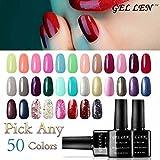 Gellen Pick Any 50 Colors UV Gel Nail Polish, Nail Art Home Salon Set