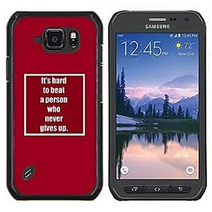 LECELL--Funda protectora / Cubierta / Piel For Samsung Galaxy S6Active Active G890A -- nunca te rindas inspirar motivador texto --