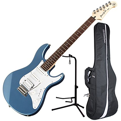 yamaha pac112j pacifica hss double cutaway electric guitar with tremolo lake blue guitar. Black Bedroom Furniture Sets. Home Design Ideas