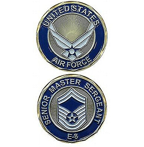 United States Airforce Senior Master Sargeant E-8 Military Challenge Coin
