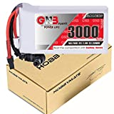 HOBBYMATE 3000mAh 2S FPV Goggles Battery - for FatShark Goggles, Aomway Commander Goggles, Skyzone FPV Goggles and DJI HD Goggles, XT60 and Barrel Plugs