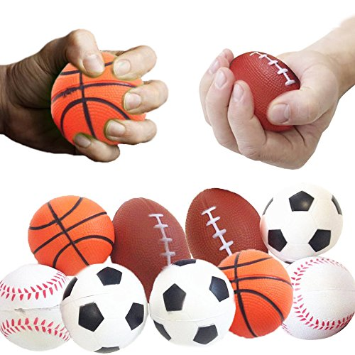 (Toy Cubby Kids Adult Stress Ball Realistic Foam Sports Ball - 24 pcs)