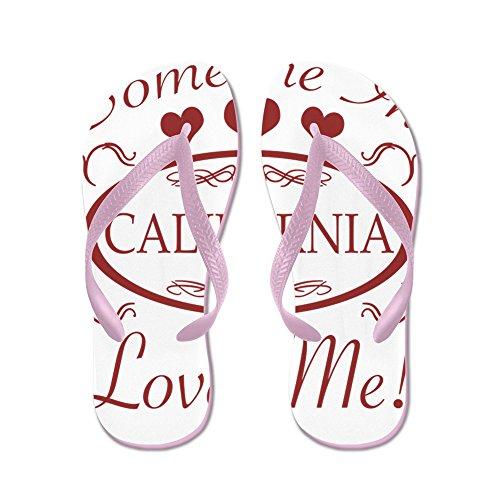 Cafepress Någon I Kalifornien Älskar Mig - Flip Flops, Roliga Rem Sandaler, Strandsandaler Rosa