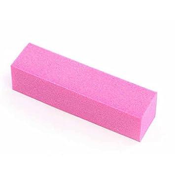 Amazon.com : Dolloress Pink Manicure Tool Sponge Nail File Buffer ...