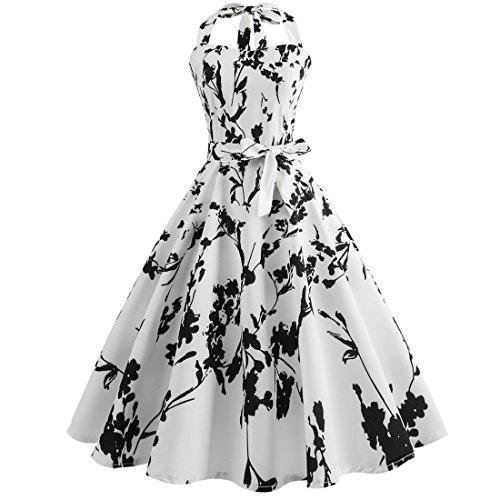 Swing Floral Rockabilly Printed Picture Dewapparel Big 1950s Bandage Bodycone Retro Vintage Dress Hq144U