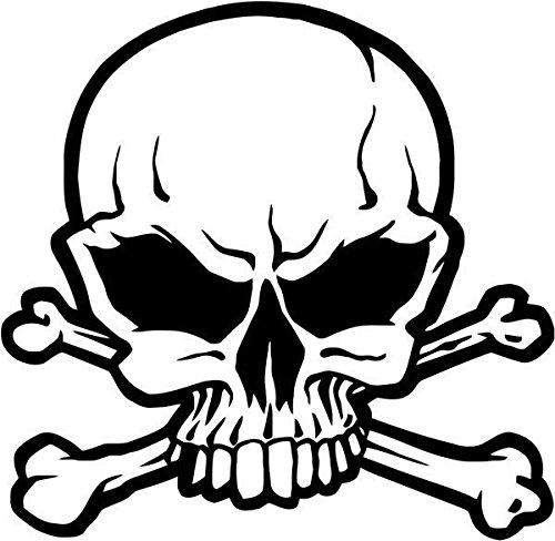 Pirate Jolly Roger Crossbones Skull Vinyl Decal Sticker- 12