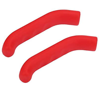 Keenso 5 Colors Bike Brake Lever Protector Cover, Bike Silicone Grips Anti-Slip Waterproof Protector Cycling Accessory(Red) : Sports & Outdoors