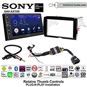 Volunteer Audio 2014-2017 Sony XAV-AX100 Harley Davidson Aftermarket Radio Installation Kit With Bluetooth Android Auto Apple Carplay