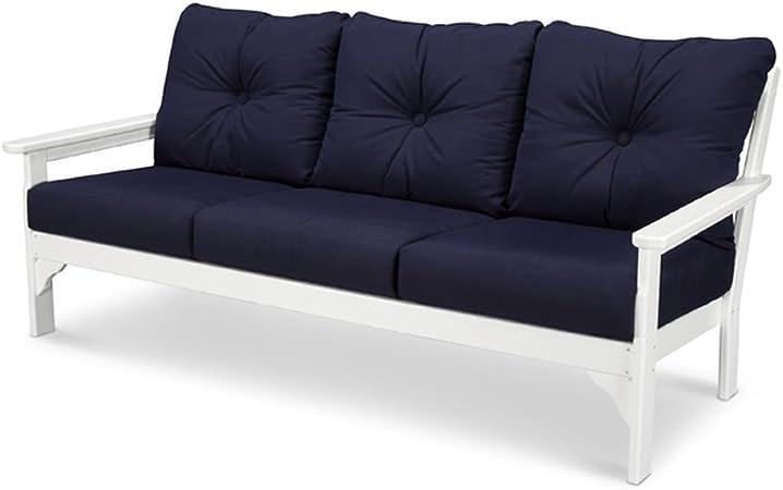 Amazon.com: polywood viñedo Deep Asientos sofá, Blanco ...