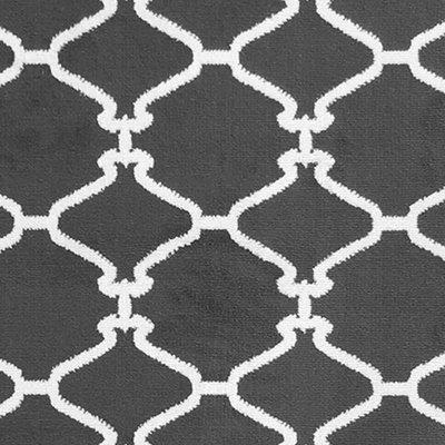Sweet Home Stores Clifton Collection Light Grey Moroccan Trellis Design (5' X 7') Area Rug