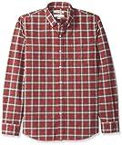 Goodthreads Men's Standard-Fit Small Tartan Oxford Shirt, red/Green, Large