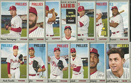 2018, 2019 Topps Heritage Philadelphia Phillies 2 Team Set Lot Gift Pack 23 Cards