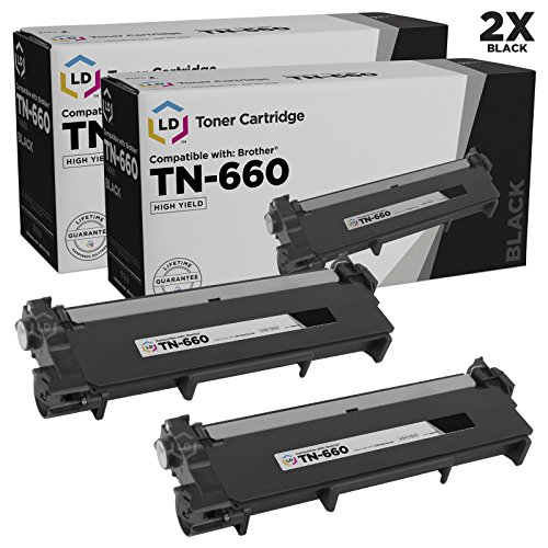 Compatible Replacements for Brother TN660 2PK HY Black Laser