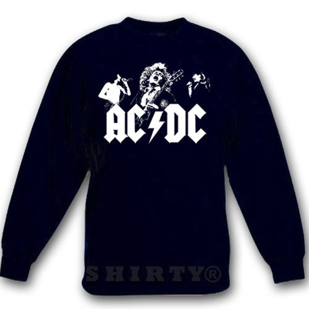 0ae4f7957cc1 Sweat - Shirt - schwarz - 5XL - ACDC Shirt 4 - heavy metal - 1001   Amazon.de  Bekleidung