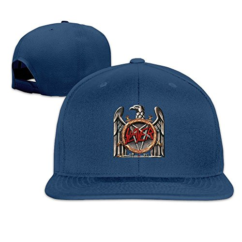 MaNeg Slayer Speed Metal Band LOGO Unisex Fashion Cool Adjustable Snapback Baseball Cap Hat One - Fendi Dallas