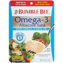 Bumble Bee Omega-3 Albacore Tuna, 2.5 Ounce Pouches, 12 Count