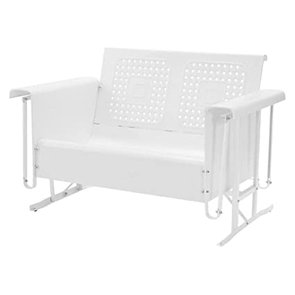 Pleasant Amazon Com Bs Outdoor Glider Loveseat Patio Bench Steel 2 Onthecornerstone Fun Painted Chair Ideas Images Onthecornerstoneorg