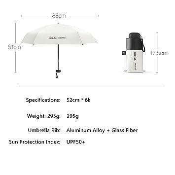 Mini Paraguas de Viaje Resistente al Viento UV Plegable Compacto Paraguas portátil Ligero Sol y Lluvia Paraguas para Mujeres y Hombres Azul Azul: Amazon.es: ...