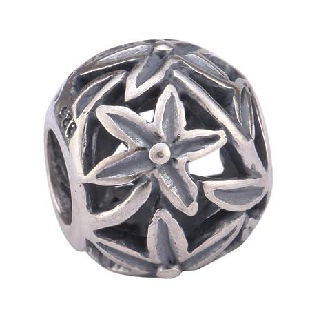 44b8fbf995b49 Amazon.com: Sterling Silver Charm Wish Star Charm Eternity Bead fits ...