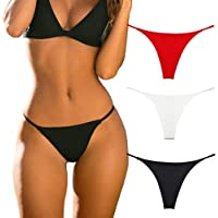 Cotton Thongs for Women Sexy Seamless Woman G String Panties 3 Pack Set