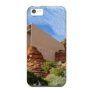 SashaankLobo Shockproof Scratcheproof Chapel Of The Holy Cross Sedona Arizona Hard Cases Covers For Iphone 5c