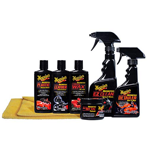 Meguiar's Motorcycle Care Kit - Package for Motorcycle Cleaning and Detailing - -