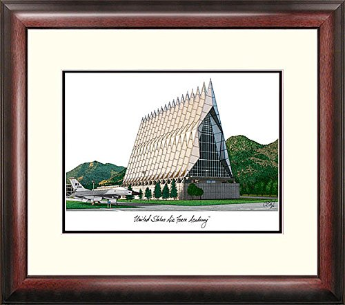 Air Force Academy Lithograph (United States Air Force Academy Alumni Exquisitely Framed Imprinted Lithograph - 2017 Graduation Diploma Frame )