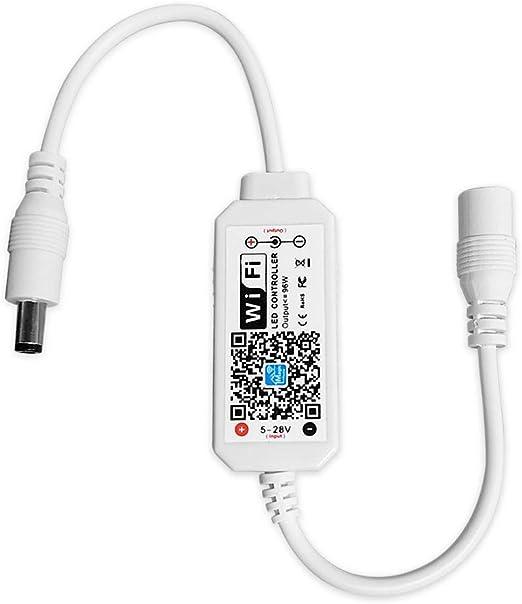 MINI CONTROLLER RGB-LED-RGB CONTROLLO 2a 12v MAX colleghiamo//oscuramento//programmi