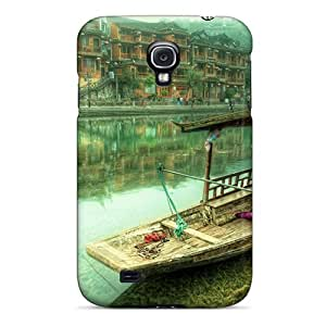 New Style Case Cover SztUXYA18811jtxcZ The Lonely Boat Compatible With Galaxy S4 Protection Case