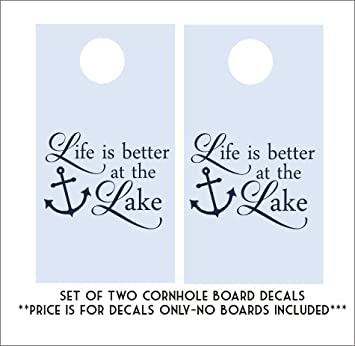 Amazoncom Life Is Better At The Lake Decals Vinyl Decals - How to price vinyl decals