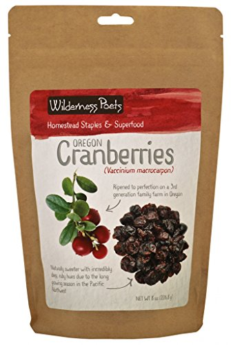 Wilderness Poets Oregon Cranberries (Sweetened with Apples) - Dried Cranberries, 8 Ounce (227 Grams)